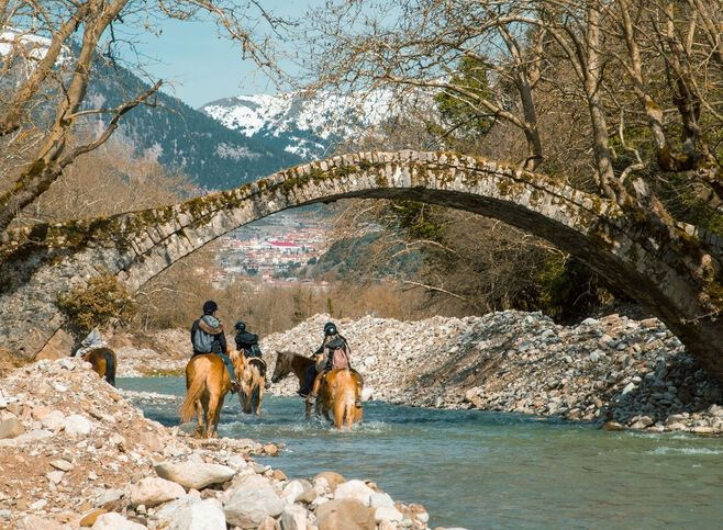 Multiple footpaths allow you to explore the countryside of Central greece
