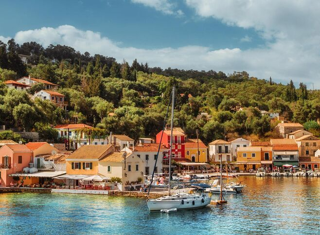 Famous for its seafood, Loggos is a must for a seaside lunch or dinner