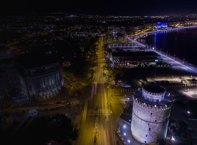 Thessaloniki at night