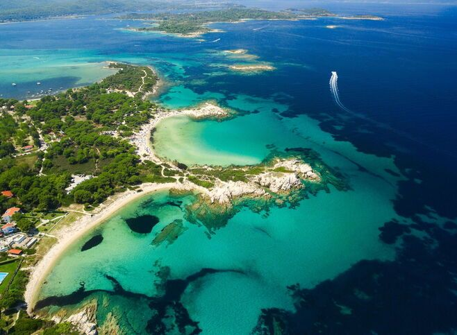 Halkidiki's exotic crystal clear waters