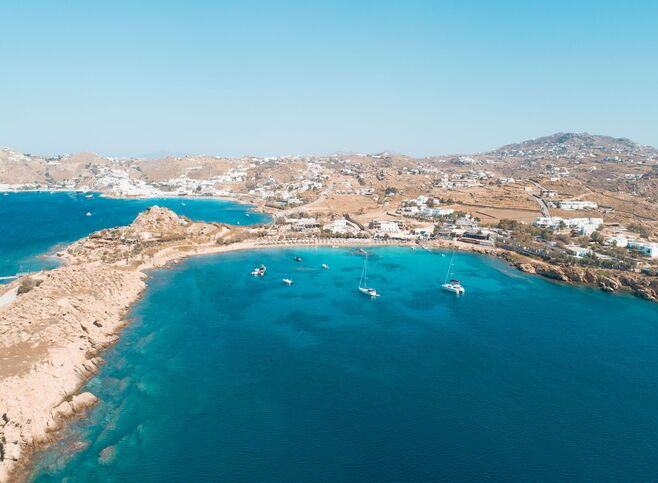 When it comes to its world-renowned beaches, it's worth choosing as carefully as if they're covered in gold dust, not sand. Paragka beach, Mykonos