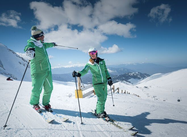 Taking to the slopes and exploring the natural beauty of Greece's most modern ski resort