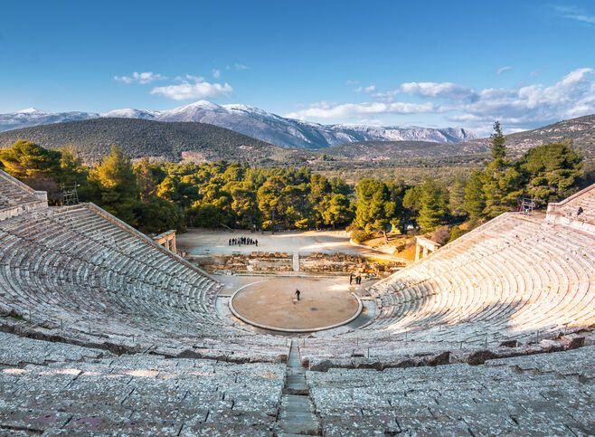 Ancient Epidaurus is most famous today for giving us the best-preserved ancient Greek theatre