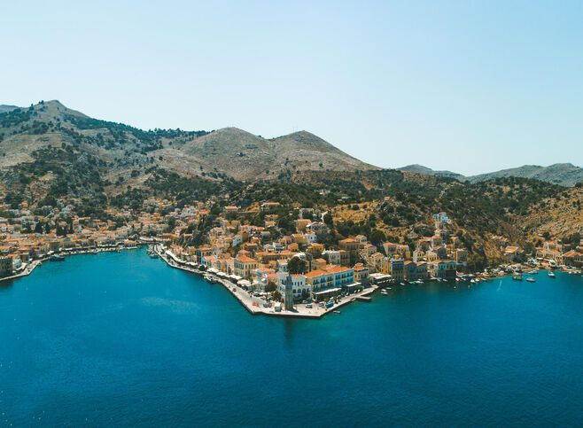 Aerial view of Symi island