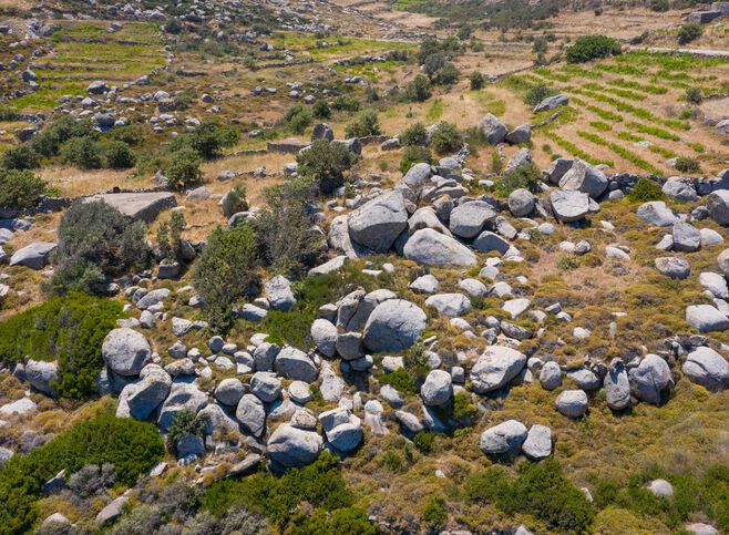 Volakes rocks near Volax village in Tinos