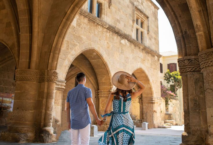 Exploring the medieval old town of Rhodes