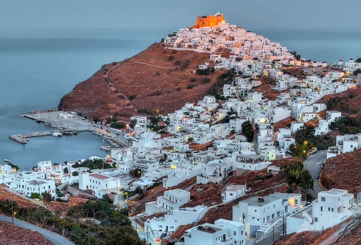 At the top of the hill, the famous stone castle of Astypalaia which towers over Hora is a special attraction