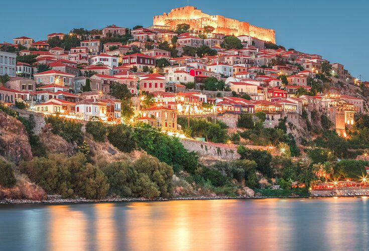 Molyvos, a castle town overwatching the Aegean Sea