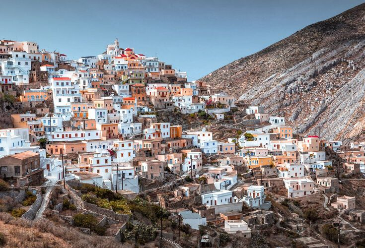 The most famous village in Karpathos island, with panoramic views