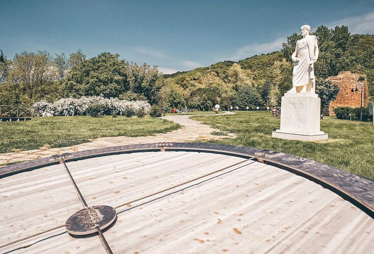 During Renaissance times Aristotle was known simply as 'the Stagirist'- Aristotle's Park