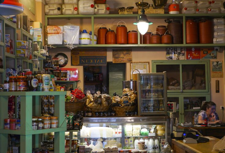 traditional shop in Gavalochori