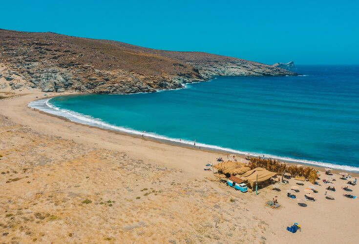 The twin beaches of Kolymbithra, on the northern coast, are possibly Tinos' best-known swimming spots