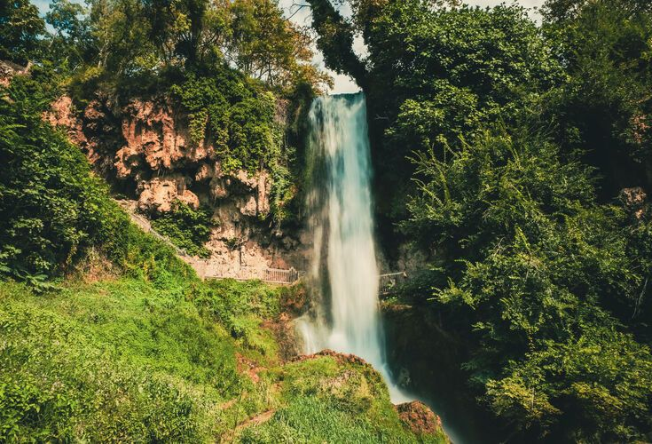 70m tall Karanos Waterfall in Edessa
