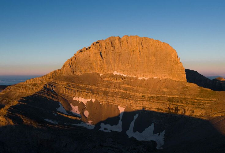 "Mount Olympus summit. The ""Throne of Zeus"" 2.919m"