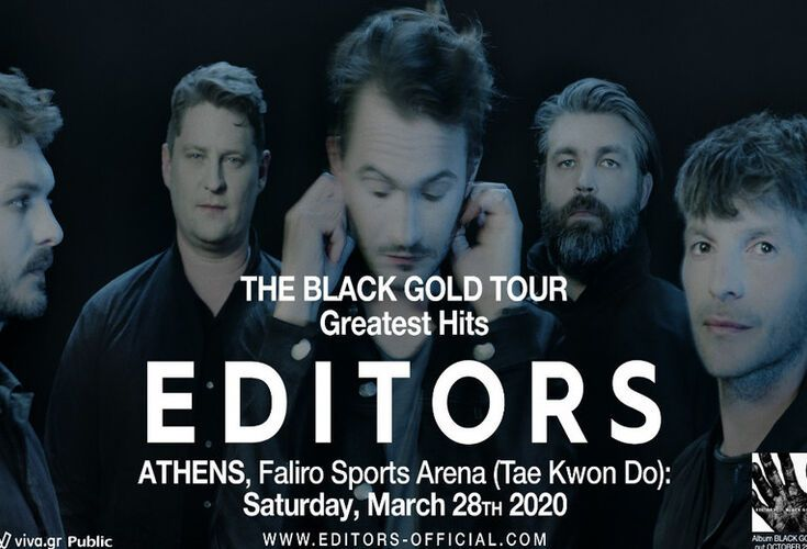 "Editors live ""The Black Gold Tour - Greatest Hits"""