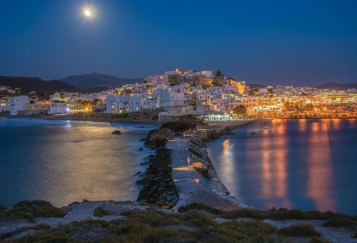 Fool moon on Naxos Island