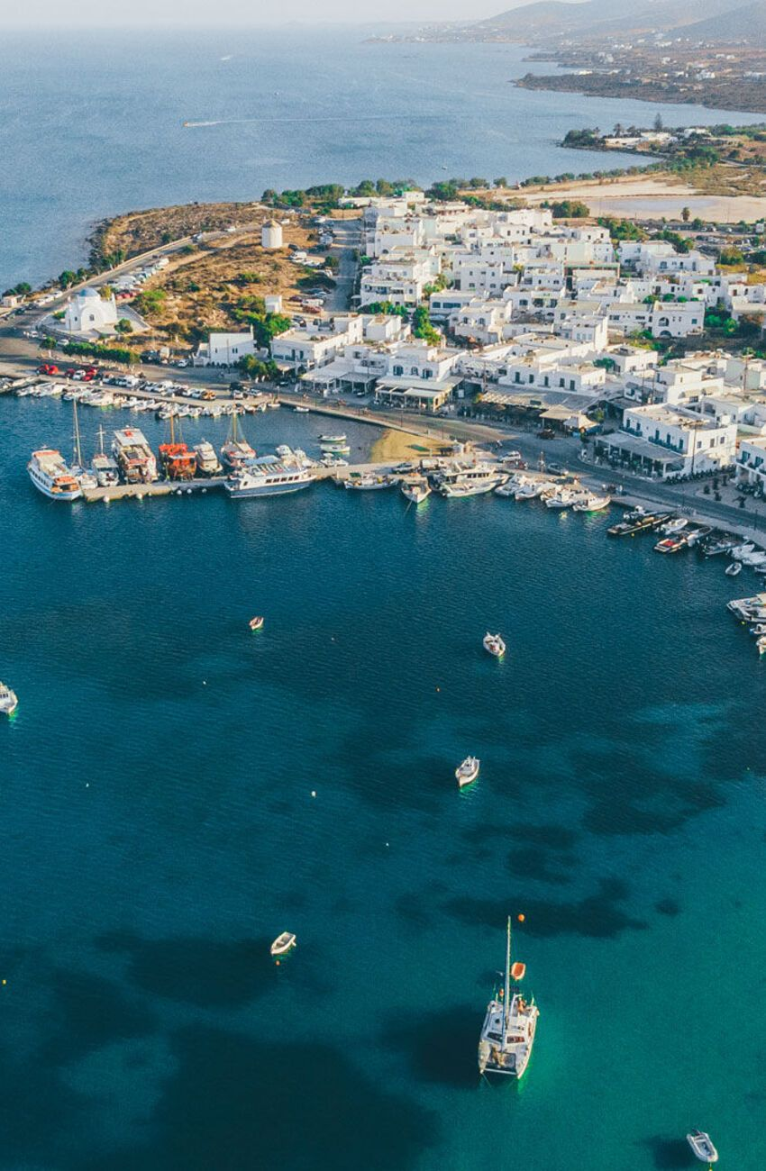 Hora is the capital and harbour of Antiparos island